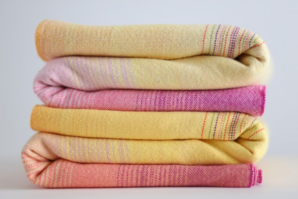 Pink Lemonade yellow and natural weft