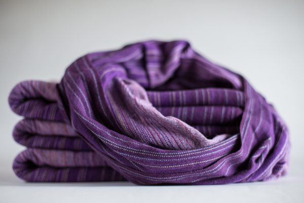1m Dark Purple Cotton Weft Twisted Cowl