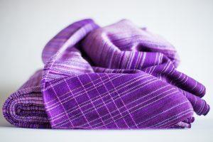 4.4m dark purple linen weft