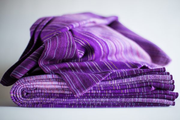 4.8m dark purple cotton weft