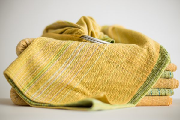 Ring Sling Lime Cotton Weft