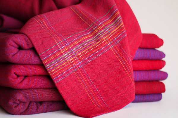 Cotton 4.7m Quad Pins MM Raspberry Weft