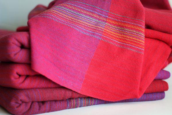 Cotton 3.9m Split Weft MM Red/Purple Weft