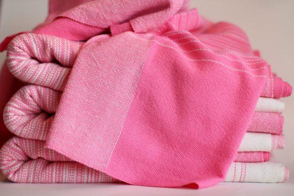 3.7m, Pink/Natural Cotton, Split Weft Center MM