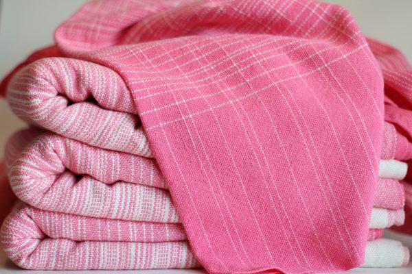 4.6m, Pink Cotton weft, Natural Pinstripe MM