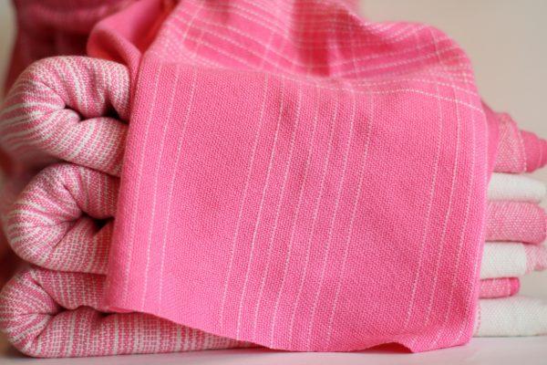 4.4m, Pink Cotton Weft, Grouped Pinstripe MM