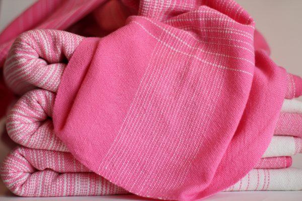 4.5m, Pink Cotton Weft, Fine Pinstriped MM