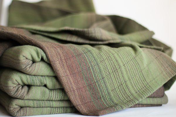 Cotton, 4.6m, Olive Weft, Dark Pinstripe MM