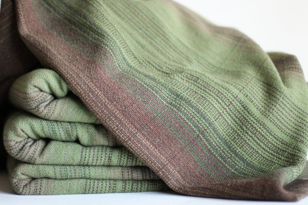 Cotton, 4.0m, Olive Weft, Pinstriped MM
