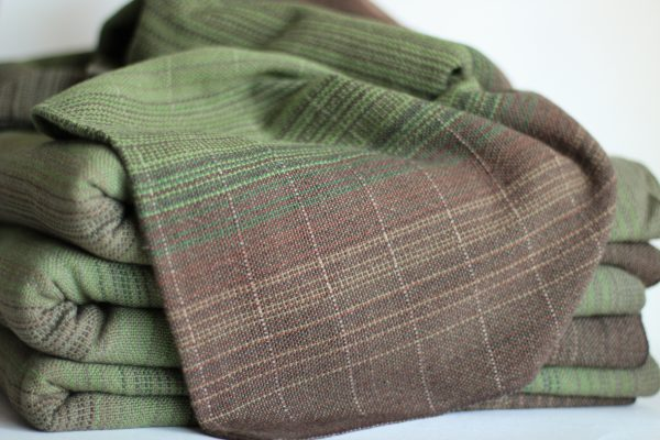 Cotton, 4.6m, Olive Weft, Light Pinstriped MM