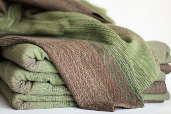 Cotton, 4.6m, Olive Weft, Multi Pinstripe MM