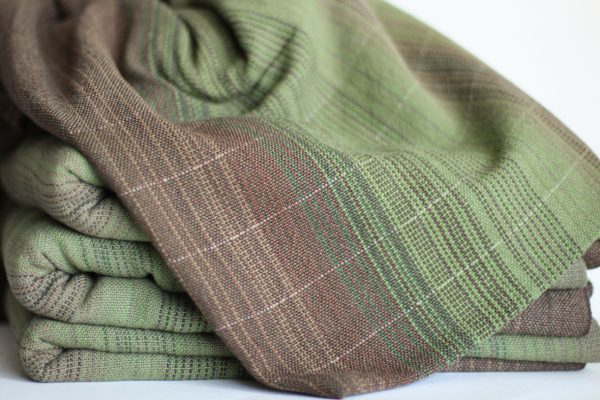 Linen (20%), 4.6m, Olive Weft, Light Pinstripe MM