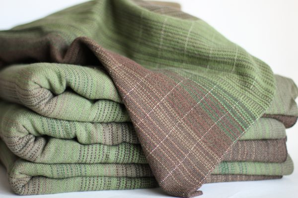 Linen (20%), 4.7m, Olive Weft, Light Pinstripe MM