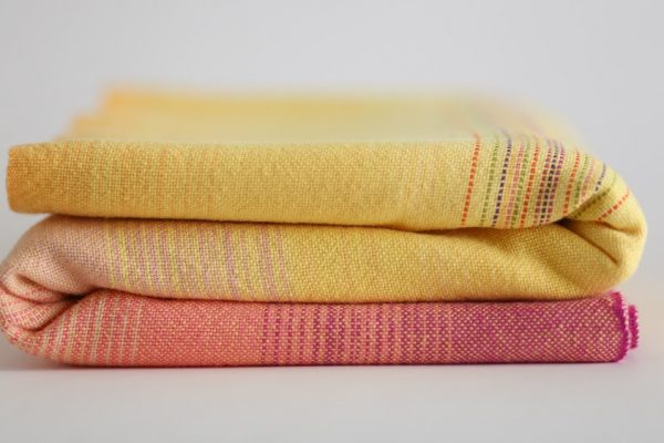 Pink Lemonade yellow weft