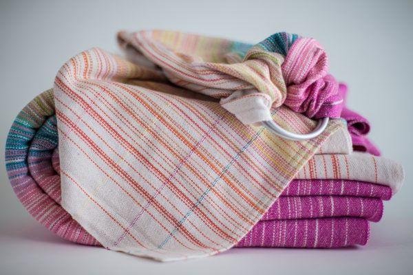 Ringsling with Natural Linen Weft