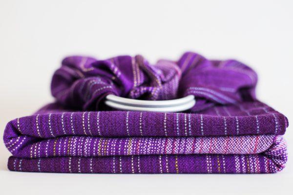 Ringsling dark purple cotton weft