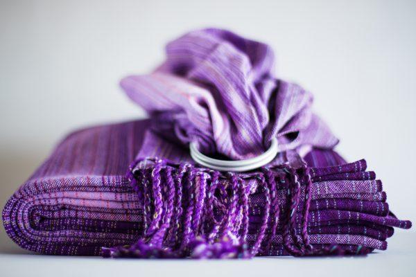Ringsling lavender cotton weft