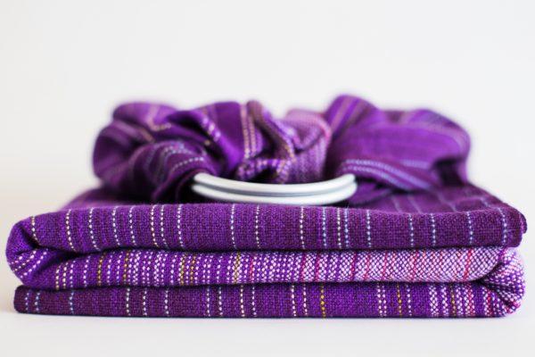 Ringsling dark purple linen weft