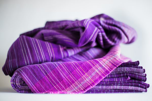 4.5m dark purple cotton weft